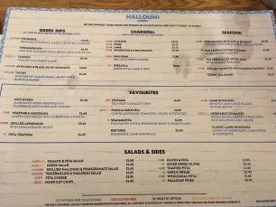 Main menu with GF symbols
