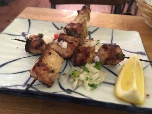 Chicken souvlaki - grilled chicken skewers